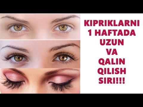Киприкларни 1 Хафтада Калин Ва Узун Килиш Сири