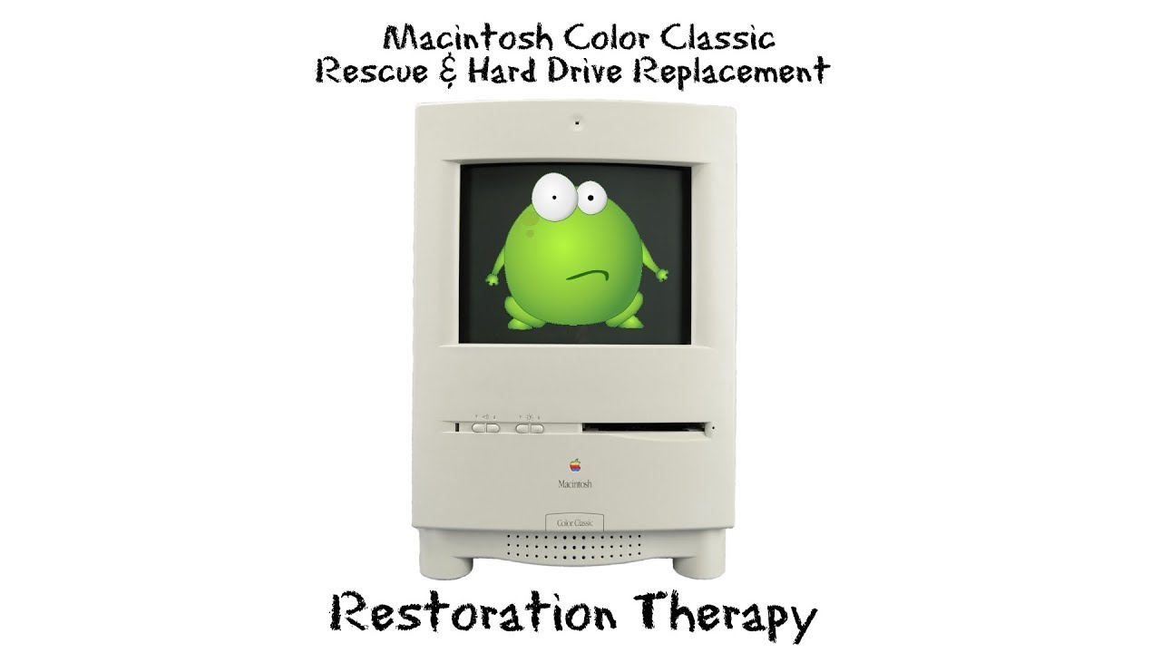 Macintosh Color Classic Rescue - No Power, Hard Drive Replace, & OS Install