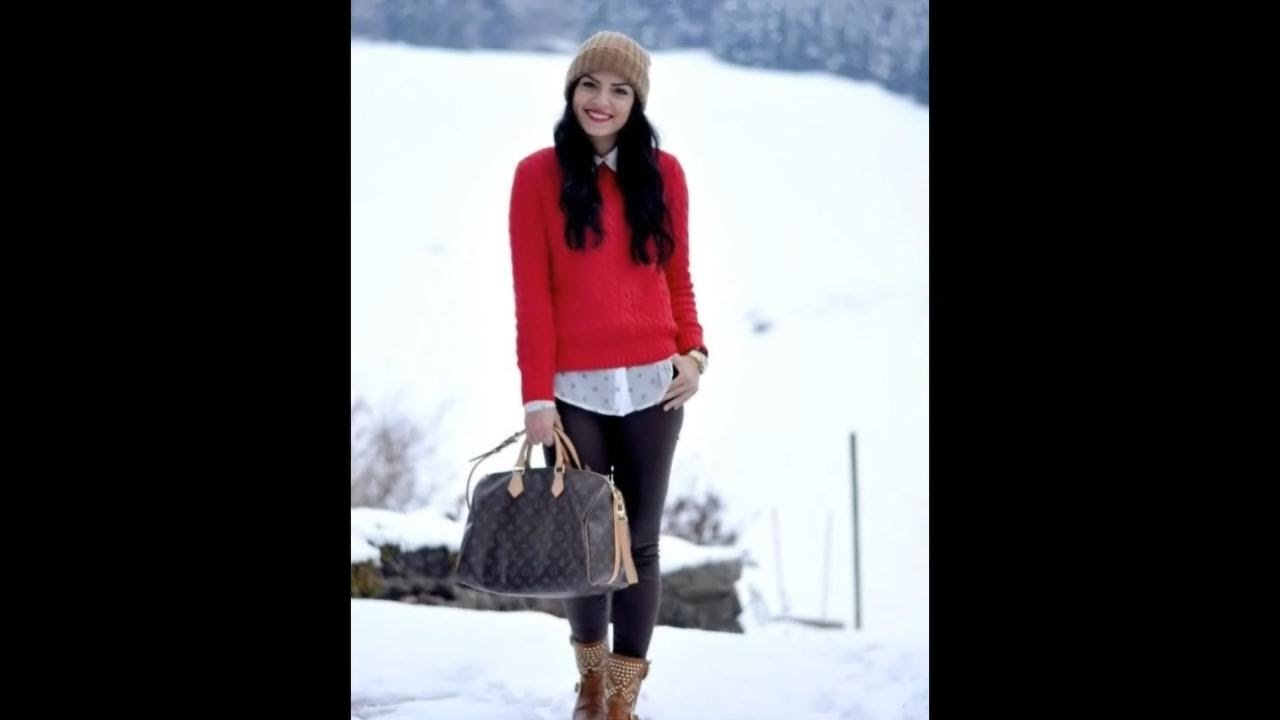How to Wear Red Sweater to Stay Warm - YouTube