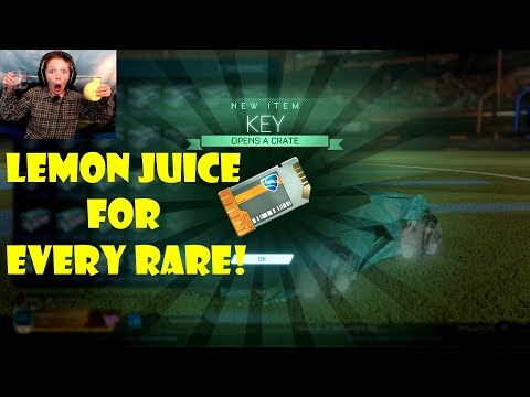 Crate Opening  I Drink Lemon Juice For Every Rare! (Rocket League)