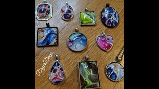 TUTORIAL Make Pendants with Acrylic Skins || Gorgeous, Colorful Jewerly with Left Over Paint!!