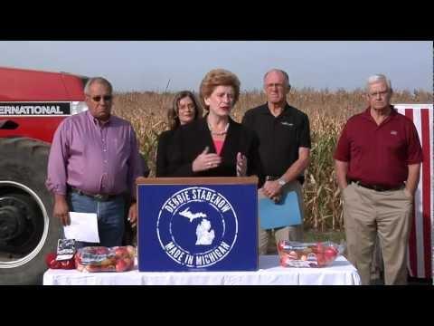 U.S. Senator Debbie Stabenow Accepts Agriculture Endorsements at Michigan Farm