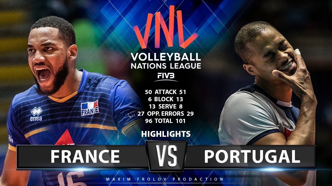 22.06.2019 France vs Portugal 3:0. Match Highlights | Men's VNL 2019