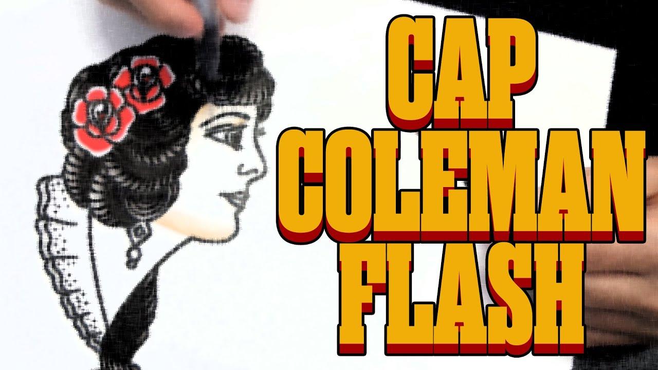 Cap Coleman Flash Traditional Tattoo Flash Youtube