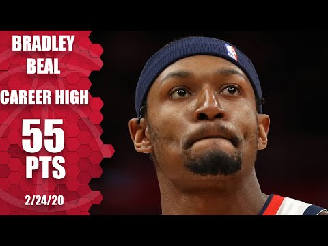 Bradley Beal Drops Career-high 55 Points One Night After Scoring 53   2019-20 NBA Highlights