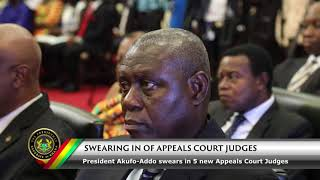 President Akufo-Addo Swears in Appeal Court Judges