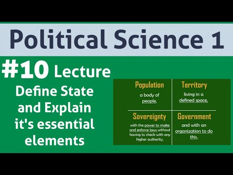 Define State. Explain Population, Territory, Government As Its Essential Elements.