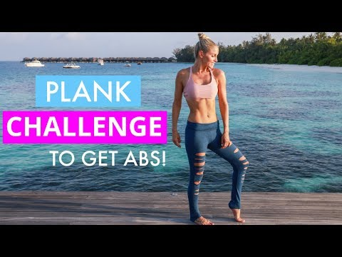 Plank Challenge Workout - FLAT ABS & TINY WAIST | Rebecca Louise