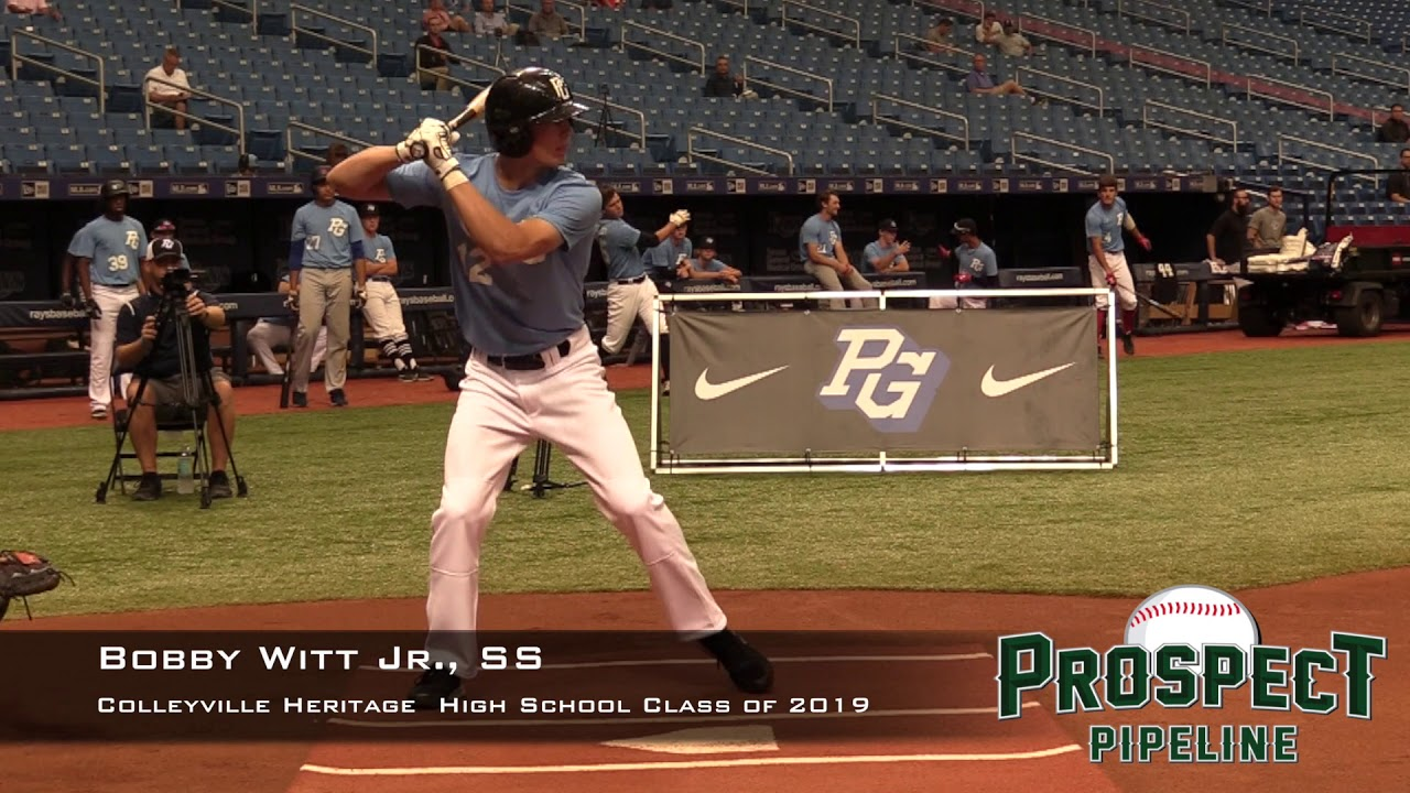 Royals select high school shortstop Bobby Witt, Jr  with the