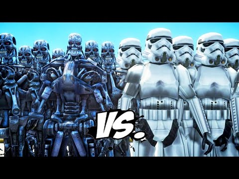 TERMINATOR ARMY VS STORMTROOPERS ARMY - EPIC BATTLE