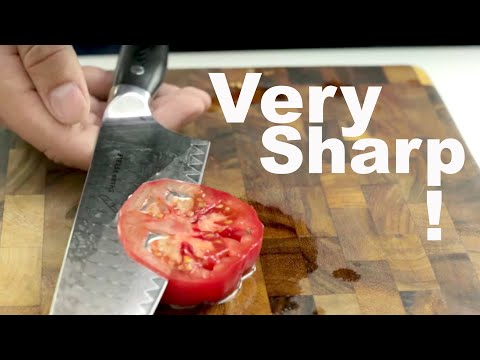 How to Sharpen a Knife to Razor Sharpness - Extremely Sharp, whetstone sharpening tutorial.