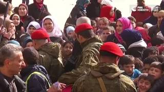 Школьники из Алеппо получили подарки