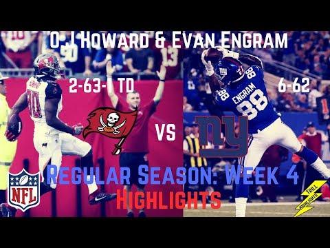 Evan Engram & O.J Howard Week 4 Regular Season Highlights The Future! | 10/01/2017