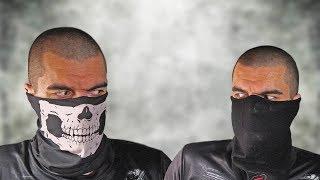 Теплая маска подшлемник + маска череп с Aliexpress.