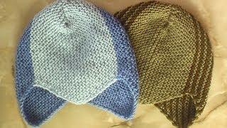 Спортивная шапочка. Вязание на спицах.(Такие шапочки вяжут для детей. Они хороши тем, что закрывают ушки ребёнка. При этом вязать шапочку не сложно,..., 2012-11-06T12:49:35.000Z)