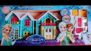 Dollhouse Toy for Toddlers and Kids. Cottage House Play set. Frozen Doll House set. Play House.