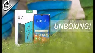OPPO A7 ( Waterdrop, 4230 mAh, 16MP Selfie) - Unboxing & Hands On Review