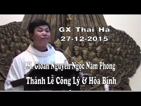Bài giảng trong Thánh Lễ công lý và hòa bình cầu nguyện cho Ls Nguyễn Văn Đài và cô Lê Thu Hà  27 12