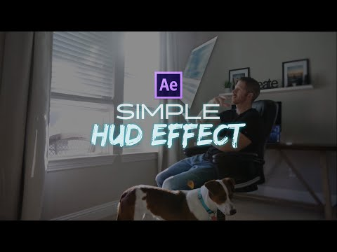 Simple HUD / After effects tutorial 2020