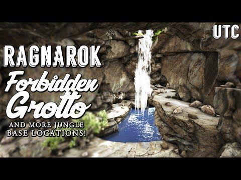 Epic Waterfall Cave :: Ark Ragnarok Forbidden Grotto :: Best PvE Base Locations :: Geeks Ep. 9 : UTC