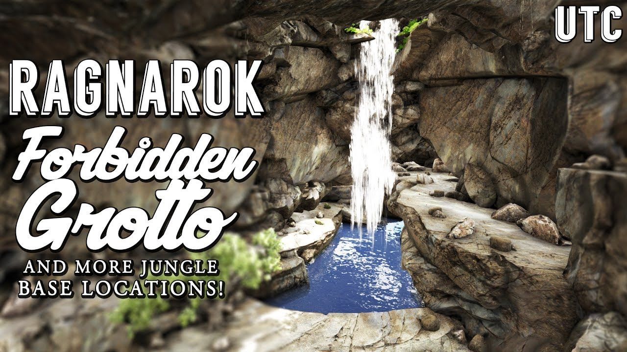 Epic Waterfall Cave :: Ark Ragnarok Forbidden Grotto :: Best PvE Base  Locations :: Geeks Ep  9 : UTC