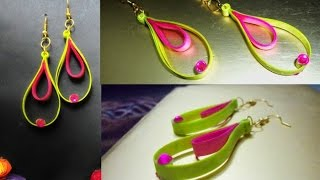 handmade jewelry quilling paper earrings Latest model earrings  Earrings Making video