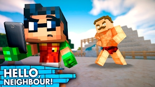 A NEW WATER PARK! Hello Neighbor vs Minecraft! (FNAF/Superheroes Roleplay)