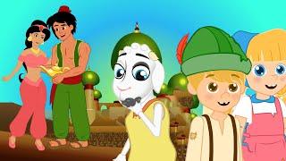 Alladin and the Magic Lamp + Hansel & Gretel + 7 Little goats ( बच्चों की नयी हिंदी कहानियाँ )