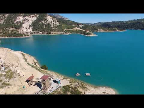 North Cyprus Geçitköy Dam Footage via Parrot Drone Bebop 2 Power