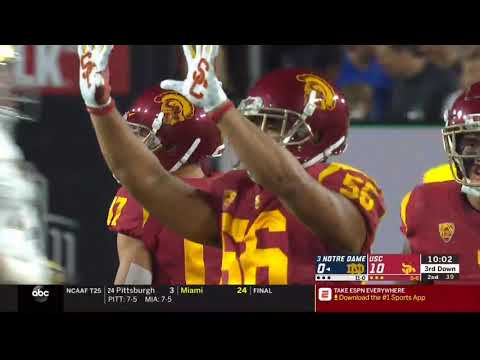 Football: USC 17, Notre Dame 24 - Highlights 11/24/18