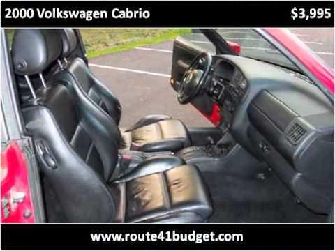2000 Volkswagen Cabrio Used Cars Wadsworth IL