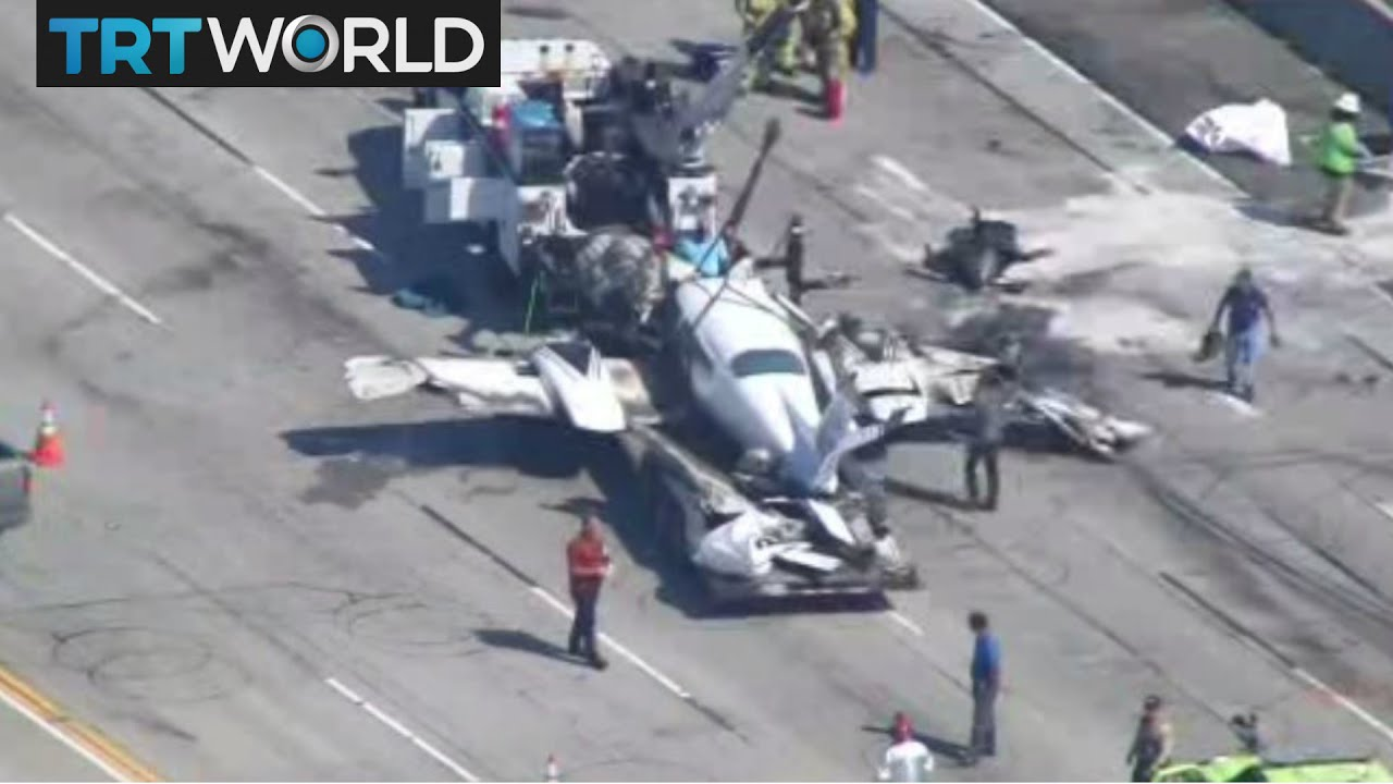 California Plane Crash: Two people hurt as Cessna crashed on highway