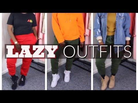 CUTE & SIMPLE LAZY OUTFITS FOR SCHOOL (FALL LOOKBOK) | HOW I STYLE SWEATPANTS