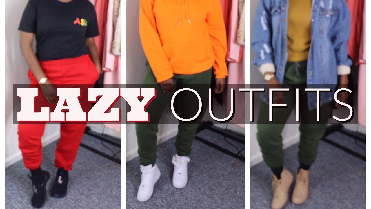 detailed look 844c9 77c73 CUTE   SIMPLE LAZY OUTFITS FOR SCHOOL (FALL LOOKBOK)   HOW I STYLE  SWEATPANTS
