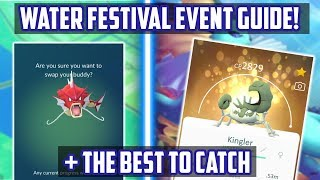 Water Festival Guide And Top Pokemon To Catch During The Event!