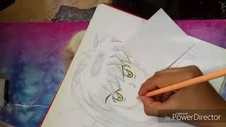 Dibujo de Inuyasha y Kagome
