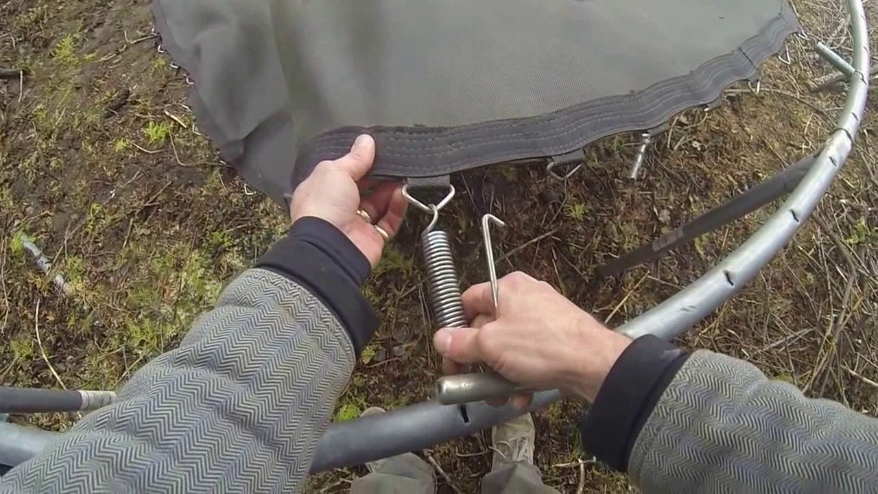 Trampoline Assembly - YouTube