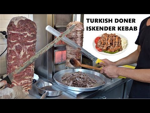 Turkish Meat Doner Original Recipe Traditional Leaf Meat Doner Kebab