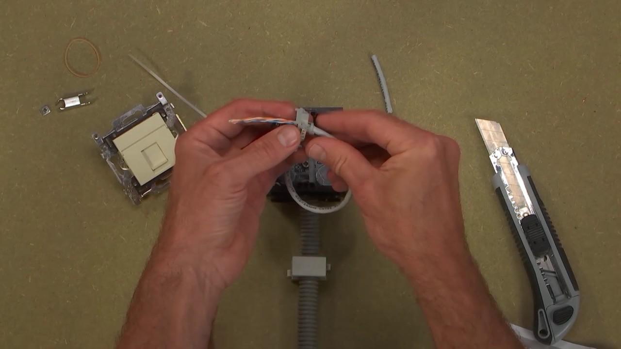 Hoe Een Utp Of Data Stopcontact Aansluiten Telephone Rj11 Connector Wiring Diagram