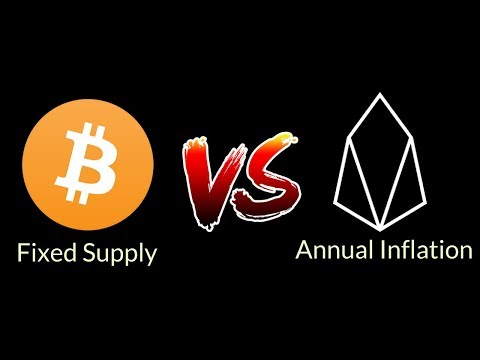 Fixed Total Supply (BTC) Vs.  Beneficial Annual Inflation (EOS) | Blockchain Debate
