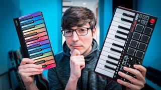 MIDI Keyboards Comparison: ROLI LUMI Keys Vs AKAI Mpk Mini
