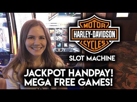 JACKPOT HANDPAY on Harley Davidson Slot Machine! MEGA FREE GAMES! MAX BET!