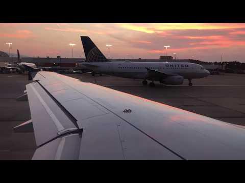 Delta A320 Beautiful Sunset Takeoff From Atlanta ATL Hartsfield-Jackson Airport
