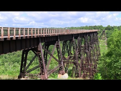BPRR 3064 at Kinzua Bridge (24JUL2014)