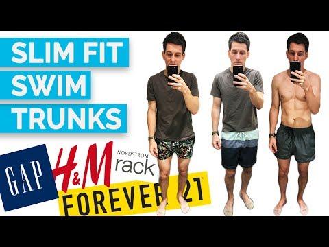 4c314a78c 2017 Men's Swim Trunks Try On (H&M, Gap, Forever 21, Ralph Lauren, Hugo  Boss, Vans and MORE) - YouTube
