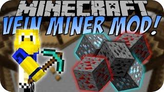 Minecraft VEIN MINER MOD (1000+ Blöcke abbauen) [Deutsch]
