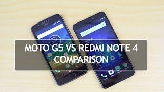Moto G5 vs Xiaomi Redmi Note 4- Detailed Comparison