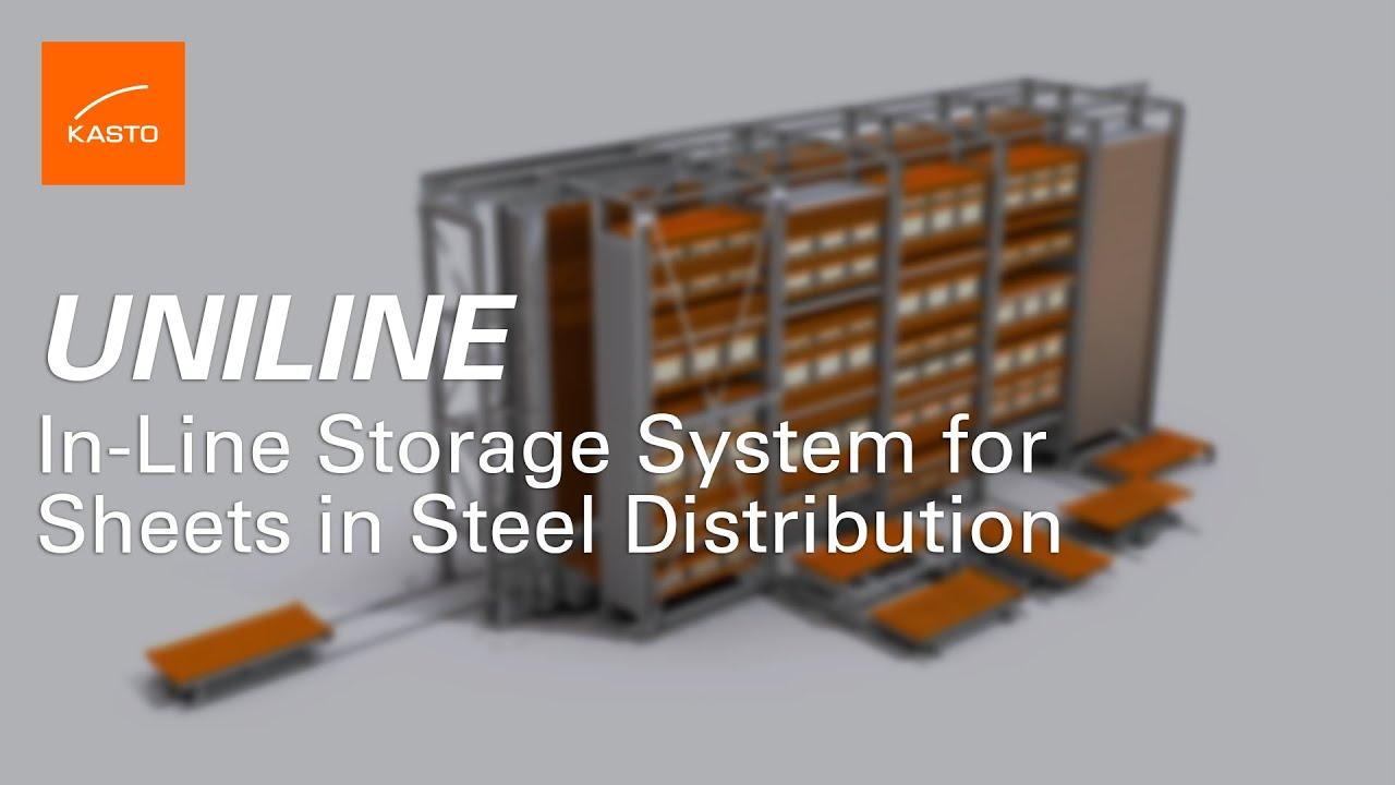 In Line Storage System Sheet Metal Storage System Kasto