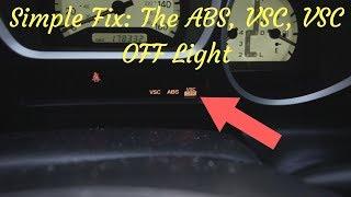 VSC LIGHT, VSC LIGHT OFF, ABS LIGHT| '01 LEXUS GS430 [1/4]