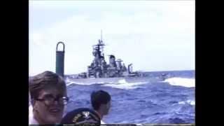 USS DENVER LPD-9 RIMPAC 1990 and USS MISSOURI BB-63